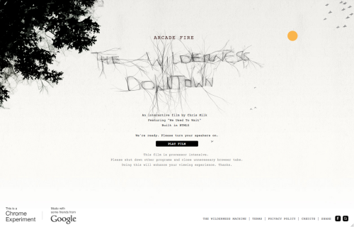 The Wilderness Downtown - site do clipe