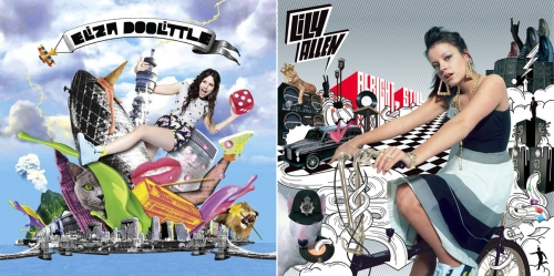 As capas de Eliza Doolittle, dela mesma e de Alright, Still, da Lily Allen.